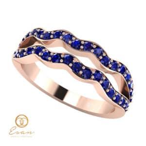 Inel de logodna din aur cu safire ES61