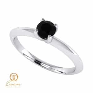 Inel de logodna din aur cu diamant negru ES56