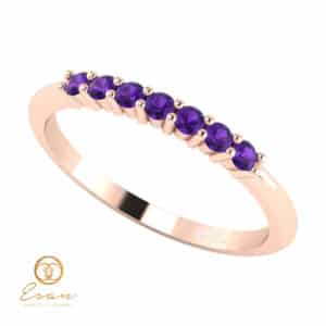 Inel de logodna din aur cu ametiste ES62