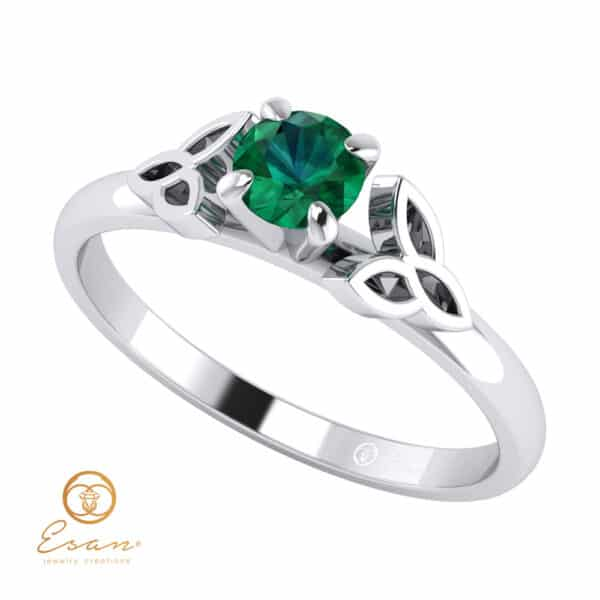 Inel de logodna din aur cu smarald ES44
