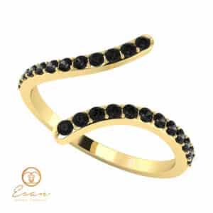 Inel de logodna din aur cu diamante negre ESDN63