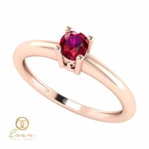 Inel de logodna din aur cu rubin ES42