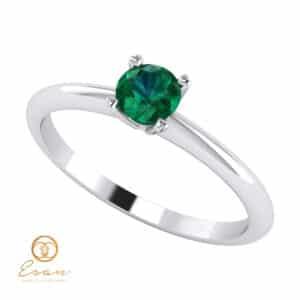Inel de logodna din aur cu smarald ES40