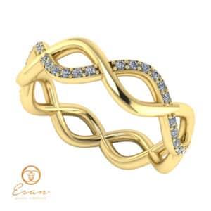 Inel de logodna din aur cu diamante ES64