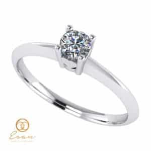 Inel de logodna din aur cu diamant ES53