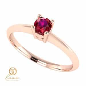 Inel de logodna din aur cu rubin ES53
