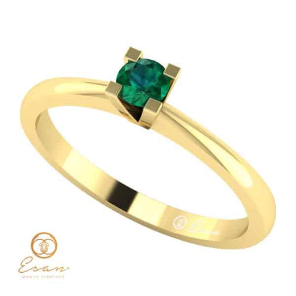 Inel de logodna din aur cu smarald ES31