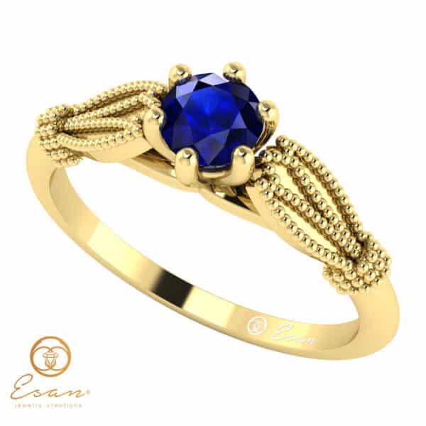 Inel de logodna din aur cu safir ES16