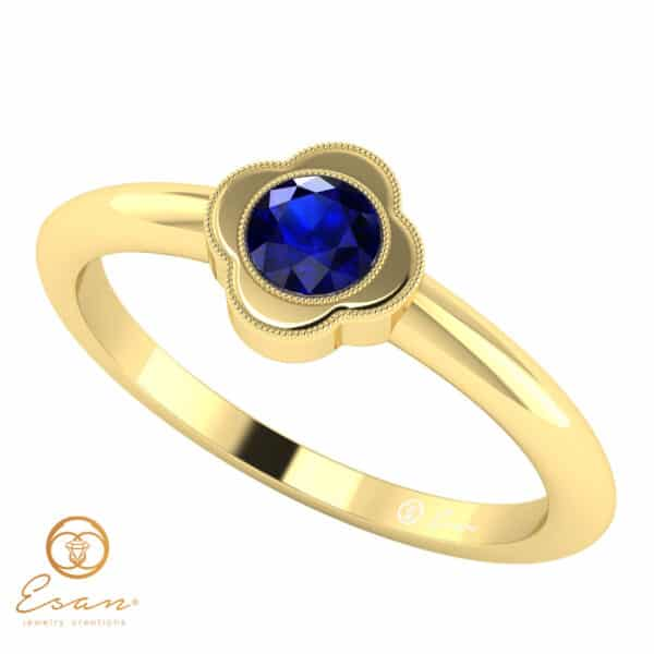 Inel de logodna din aur cu safir ES20