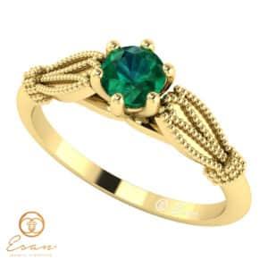 Inel de logodna din aur cu smarald ES16