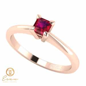 Inel de logodna cu rubin ES18