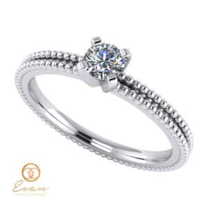 Inel de logodna din aur cu diamant ES36