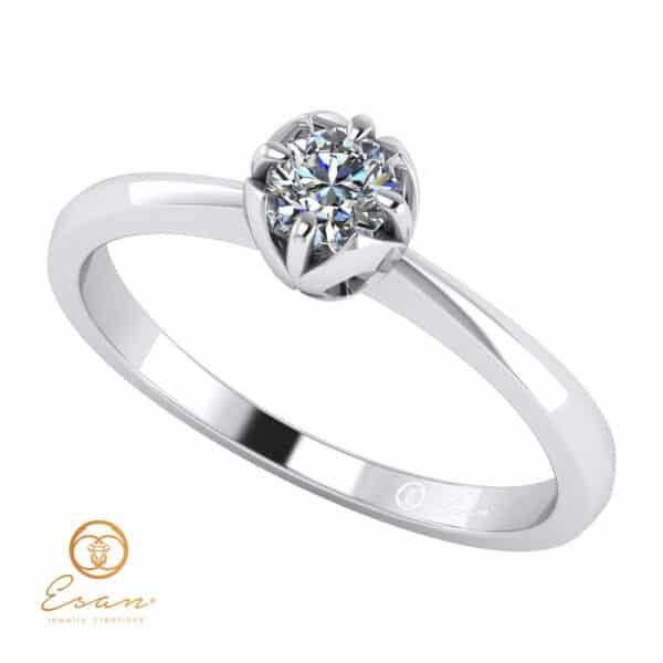 Inel de logodna din aur cu diamant ES34