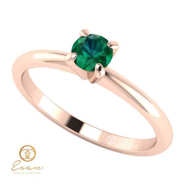 Inel de logodna din aur cu smarald ES35