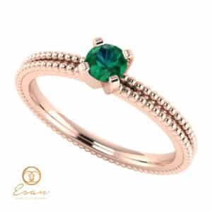 Inel de logodna din aur cu smarald ES36