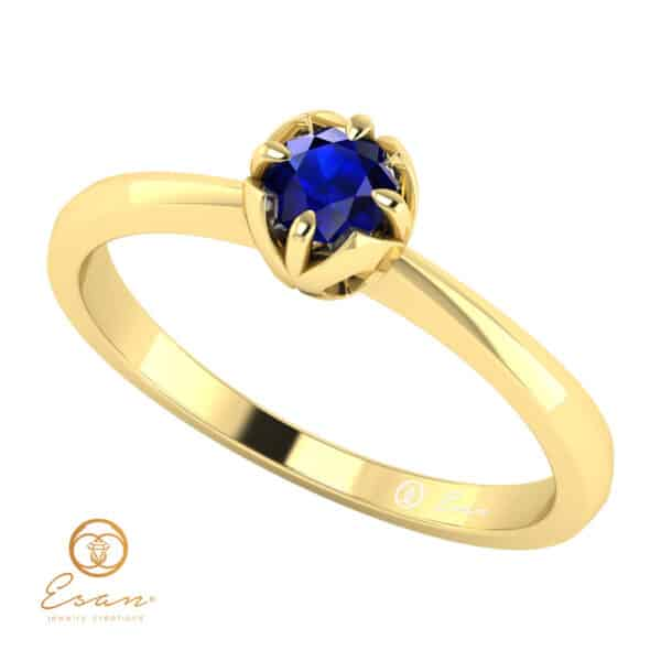 Inel de logodna din aur cu safir ES34