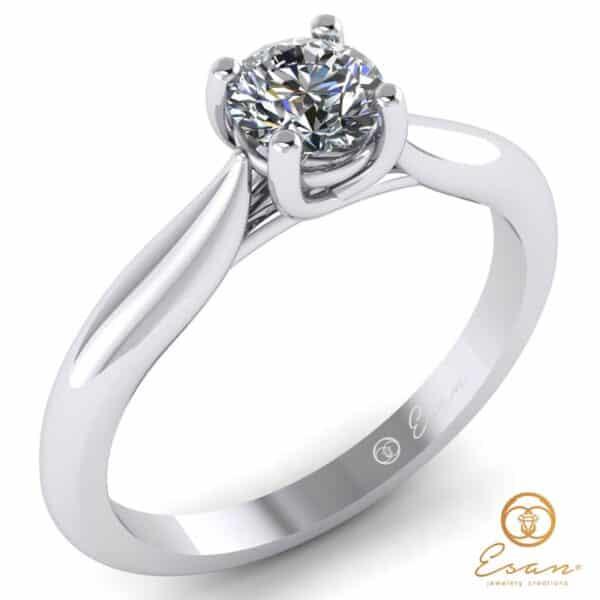 Inel din aur cu diamant solitaire es168