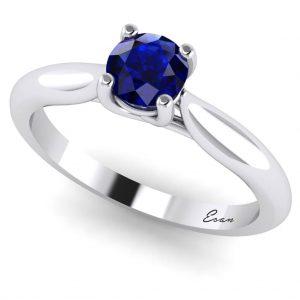Inel logodna cu safir din aur alb ES168