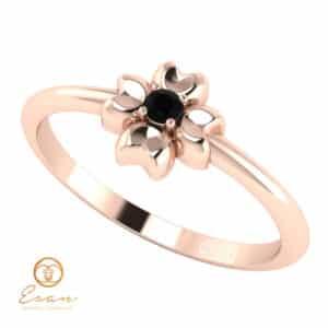 inele de logodna personalizate diamant negru